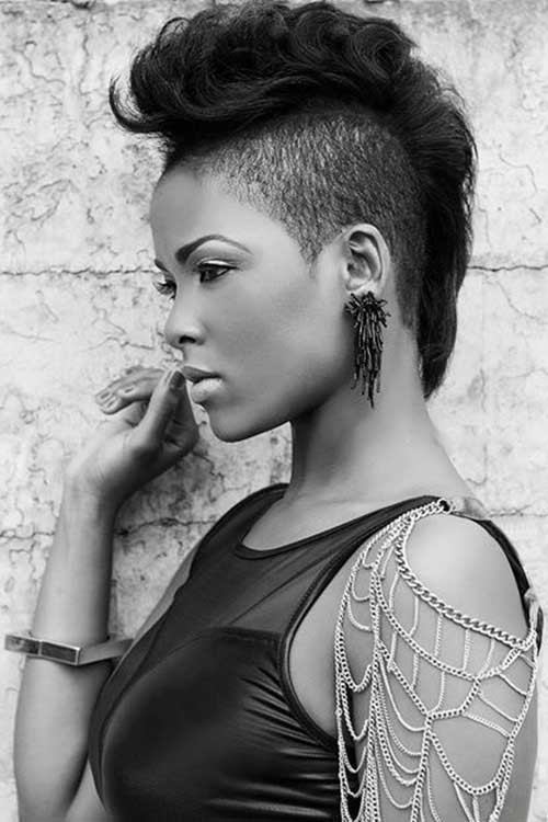 Girls Mohawk Hairstyles  Mohawk Short Hairstyles for Black Women