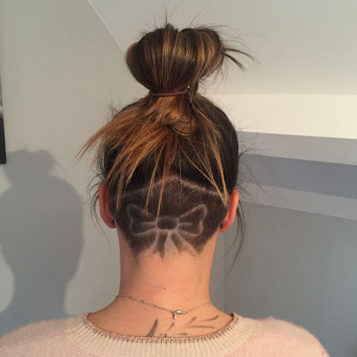 Girls Undercut Hairstyle  Chic and Cool Undercut Nape Shaved Hairstyles for Young