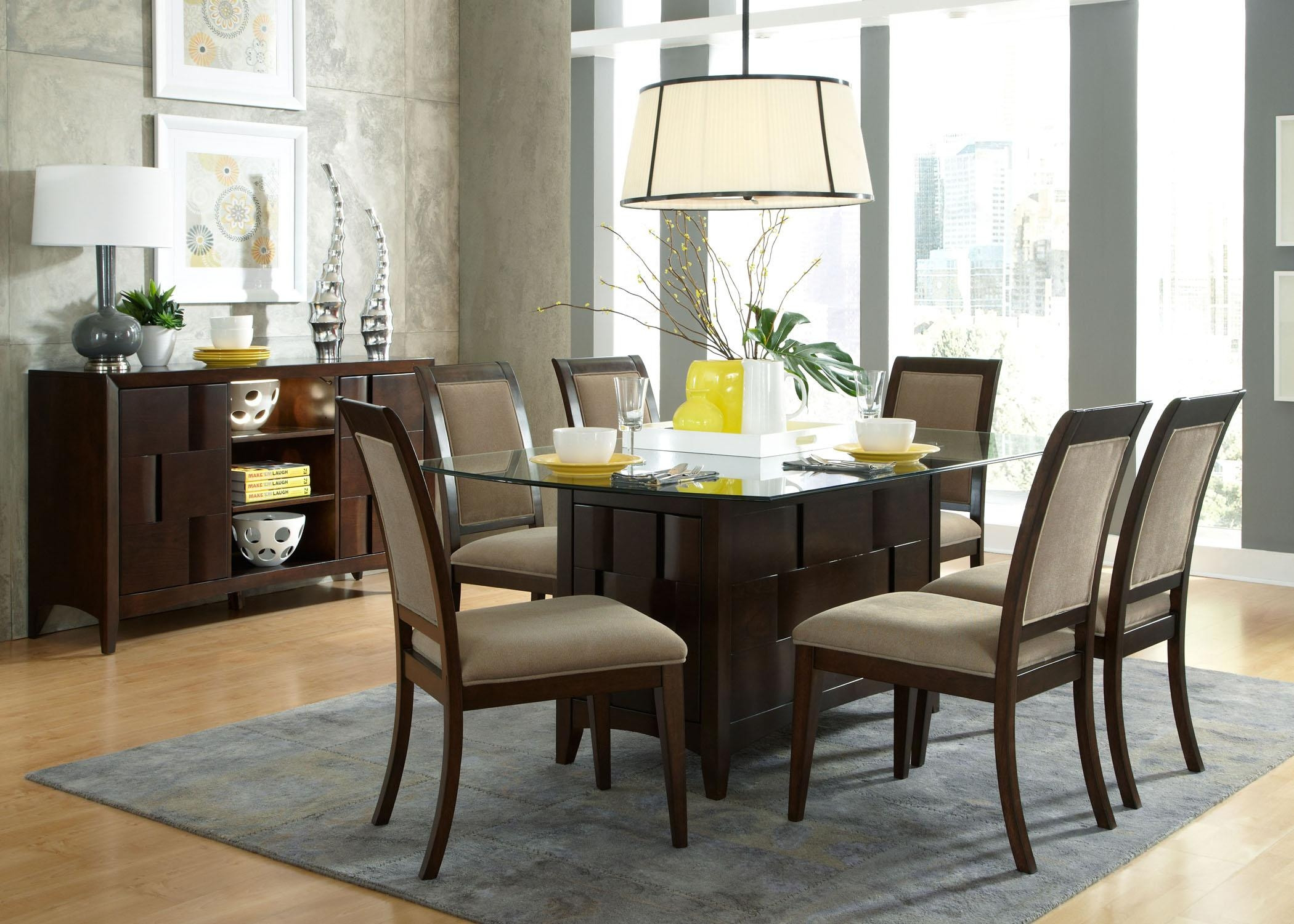 Best ideas about Glass Dining Room Tables . Save or Pin Glass Top Dining Tables With Wood Base Dining Room aprar Now.