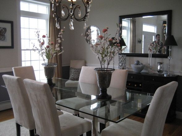 Best ideas about Glass Dining Room Tables . Save or Pin Glass Top Dining Room Table And Chairs WoodWorking Now.