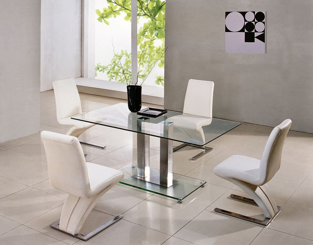 Best ideas about Glass Dining Room Tables . Save or Pin SAVIO SMALL GLASS CHROME DINING ROOM TABLE & 4 Z CHAIRS Now.