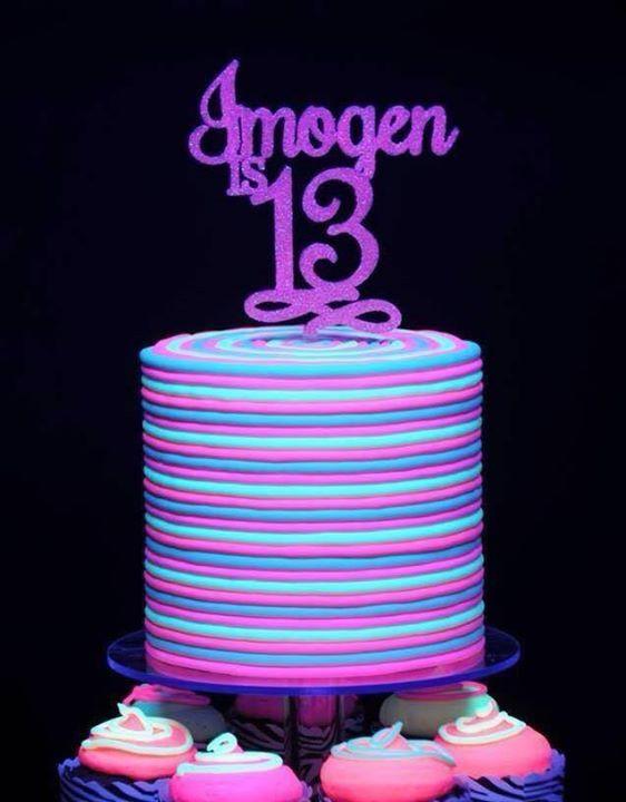 Glow In The Dark Birthday Cake  Birthday cakes Birthdays and Dark on Pinterest