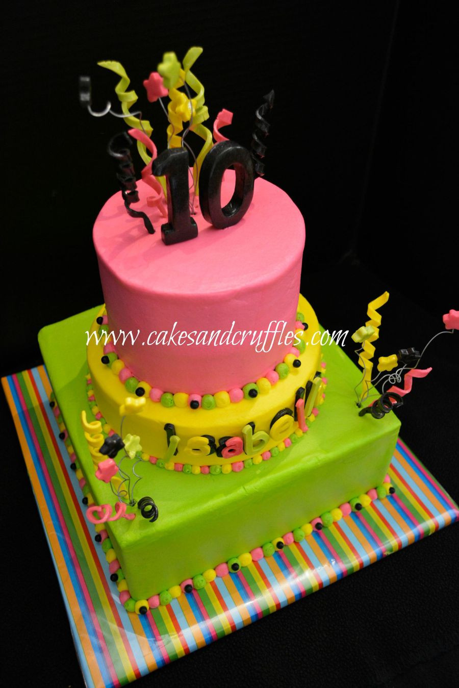 Glow In The Dark Birthday Cake  glow In The Dark Cake CakeCentral