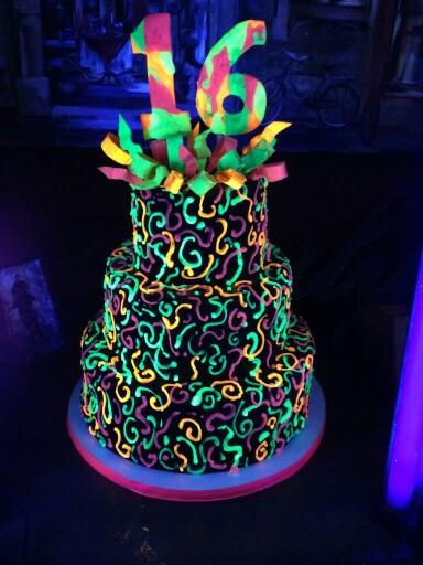 Glow In The Dark Birthday Cake  20 Epic Glow In The Dark Party Ideas Pretty My Party