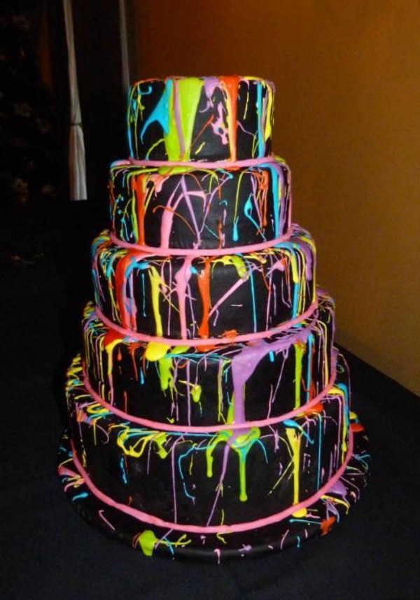 Glow In The Dark Birthday Cake  21 Awesome Neon Glow In the Dark Party Ideas