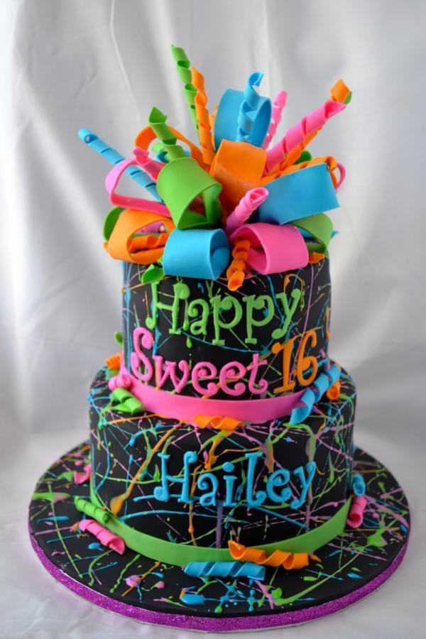 Glow In The Dark Birthday Cake  Glow In The Dark Cake Ideas Cake Ideas