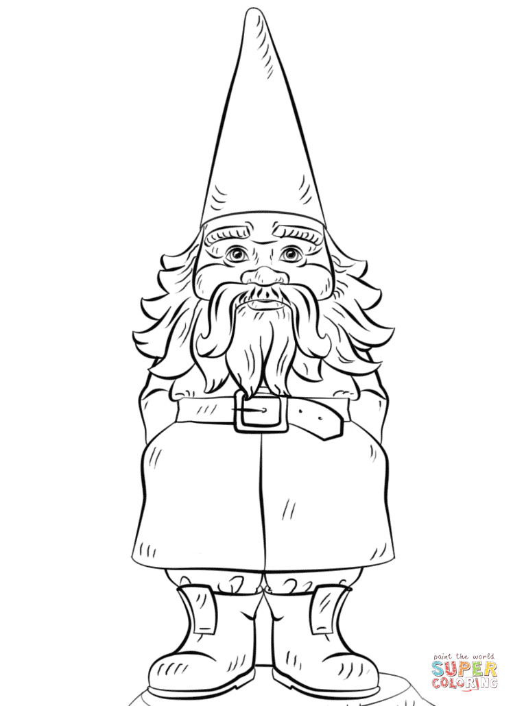 Gnome Coloring Pages  Garden Gnome coloring page