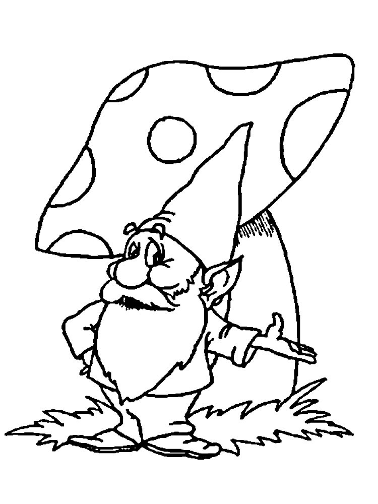 Gnome Coloring Pages  Gnome coloring pages to and print for free