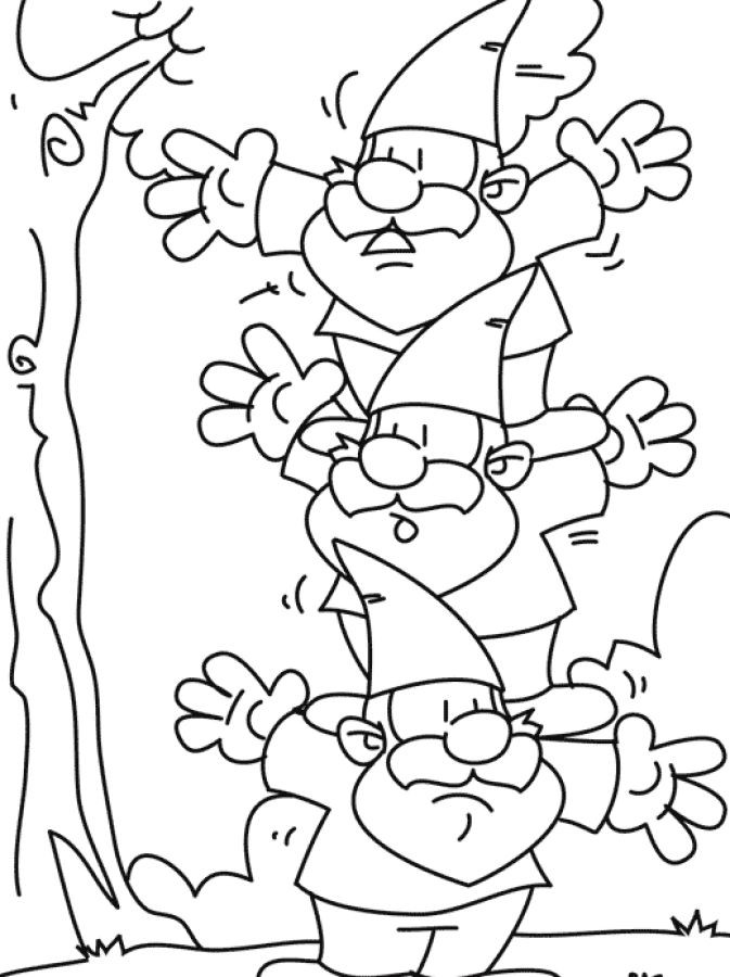 Gnome Coloring Pages  102 best images about Garden Gnomes Coloring For Adults