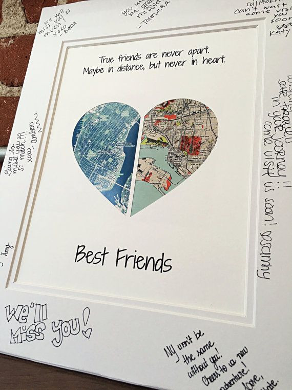 Going Away Gift Ideas For Girlfriend  True Friends Are Never Apart Going Away Present for