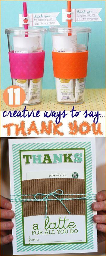 Good Thank You Gift Ideas  Creative Ways to Say Thank You Great Teacher Appreciation