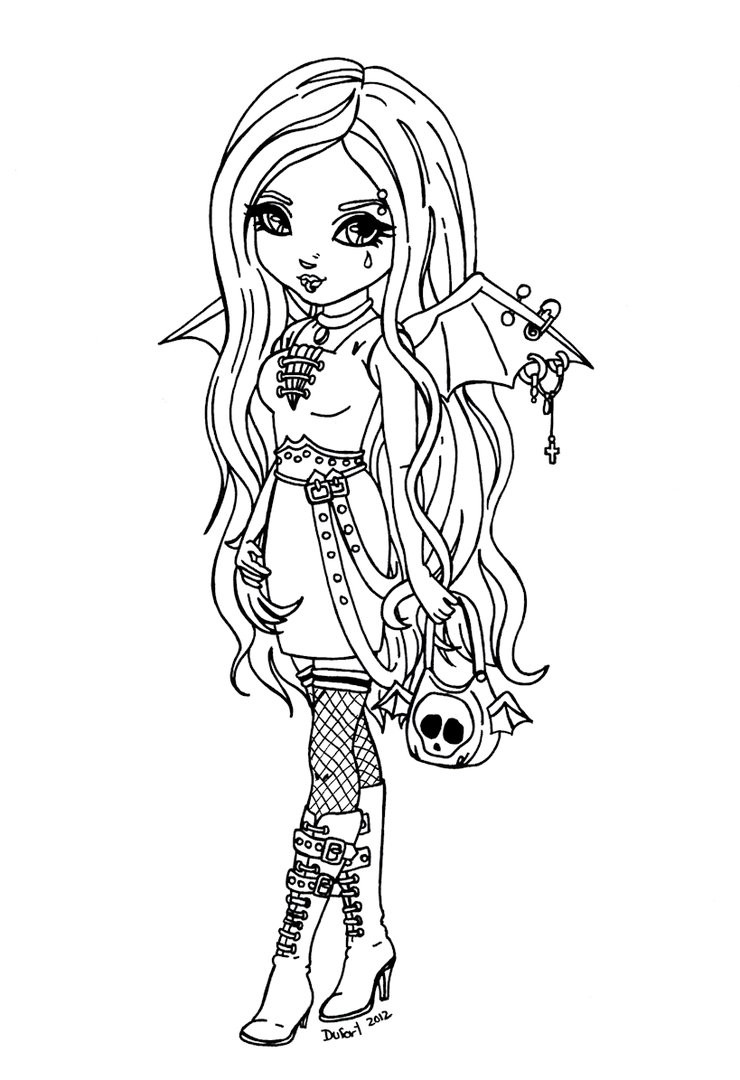 Goth Coloring Book  Gothic bat by JadeDragonne on DeviantArt