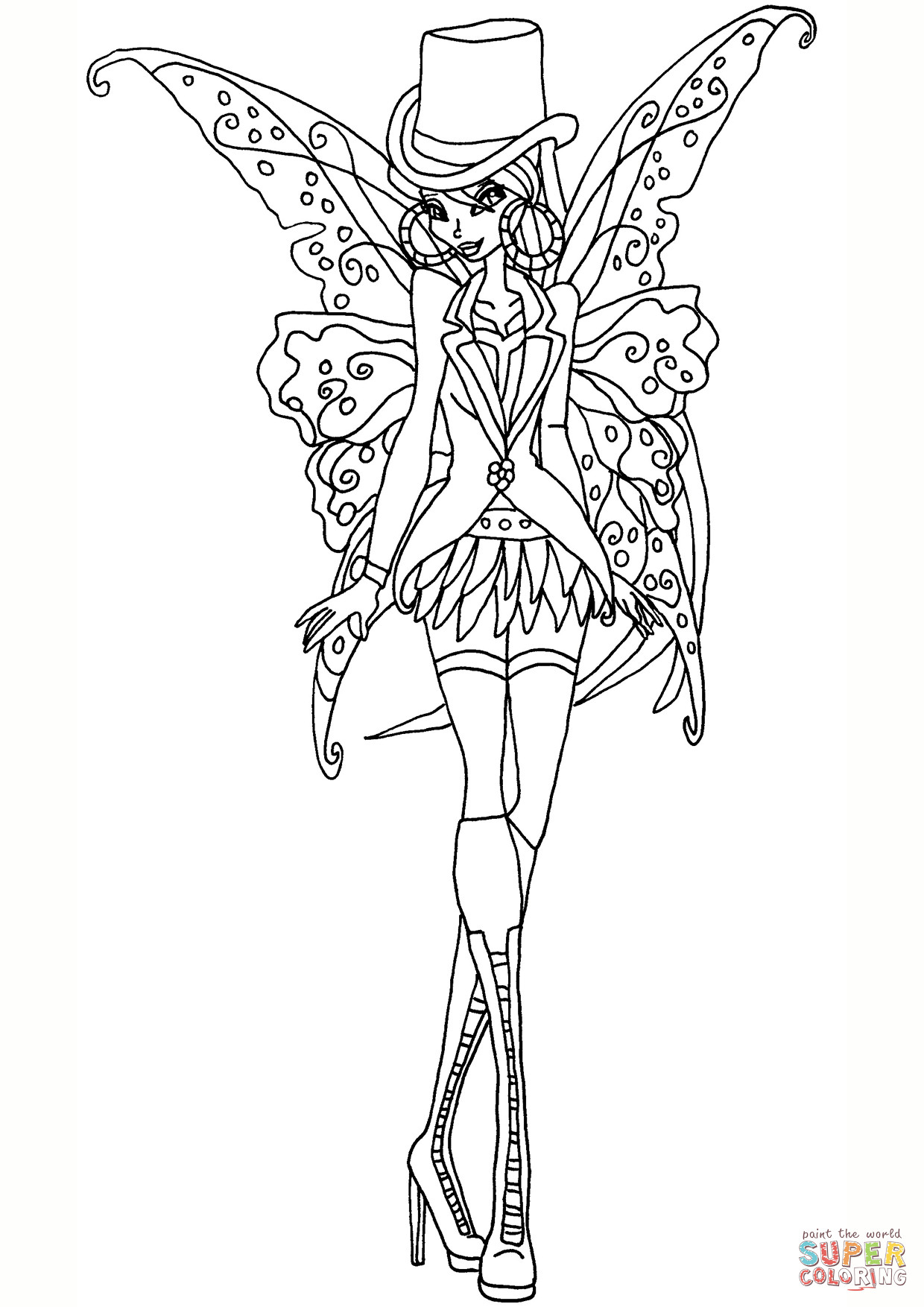 Goth Coloring Book  Gothic Flora coloring page