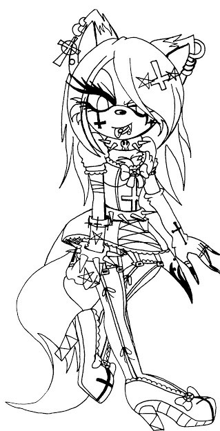 Goth Coloring Book  Top Gothic Anime Coloring Pages s Free Coloring