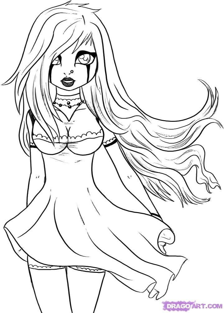 Goth Coloring Book  Gothic Fairy Drawing at GetDrawings
