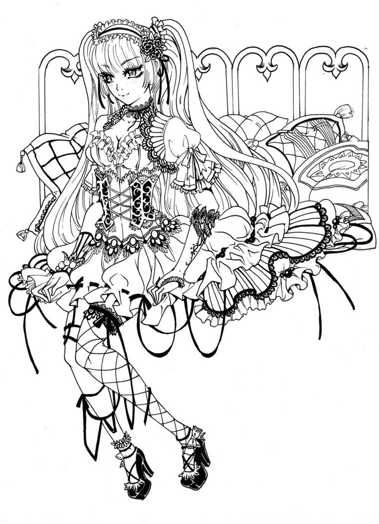 Goth Coloring Book  gothic i sketch by BerryKuro on DeviantArt