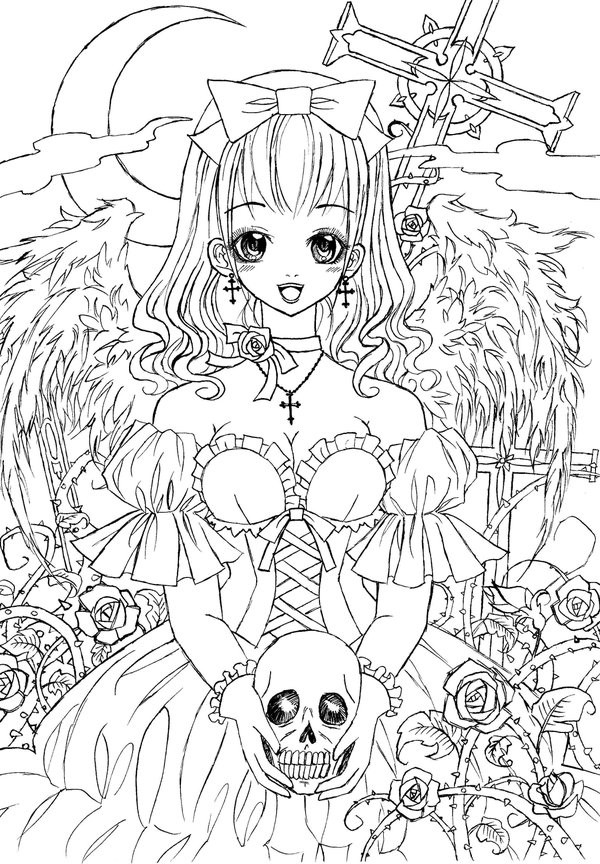 Goth Coloring Book  Gothic Lolita by LiaDeBeaumont on DeviantArt