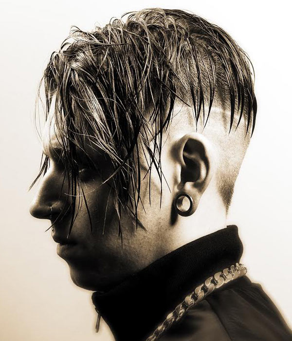 Goth Hairstyles Male  Latest Men s Hairstyles by Tom Chapman Hair Design