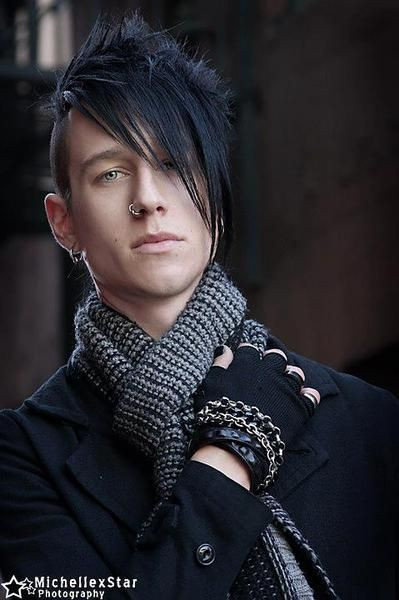 Goth Hairstyles Male  25 best ideas about Goth men on Pinterest