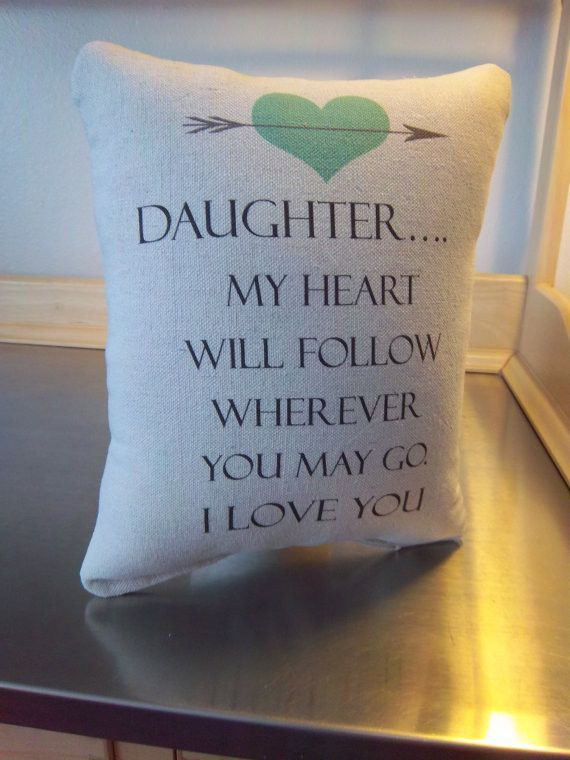Graduation Gift Ideas For Daughter  Pillow daughter t from parents canvas throw pillow home