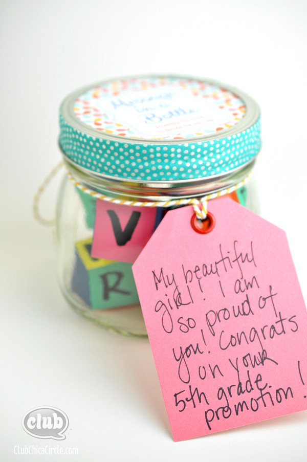 Graduation Gift Ideas For Daughter  Message in a Bottle Homemade Graduation Gift Idea