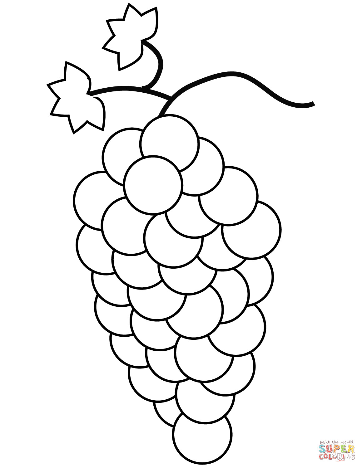 Grapes Coloring Pages  Grapes coloring page