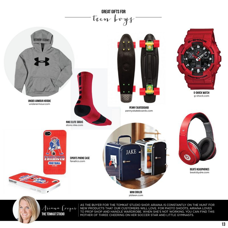 Great Gift Ideas For Teen Boys  Great Gifts for Teen Boys TomKat Holiday Gift Guide