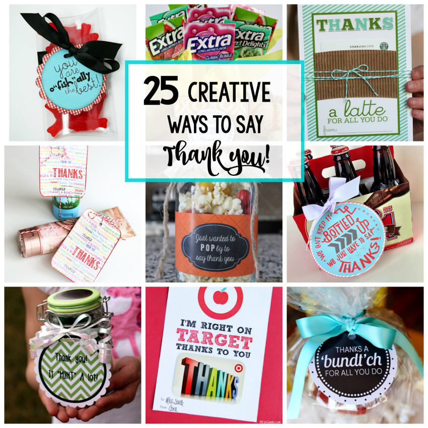 Great Thank You Gift Ideas  25 Creative Ways to Say Thank You Crazy Little Projects
