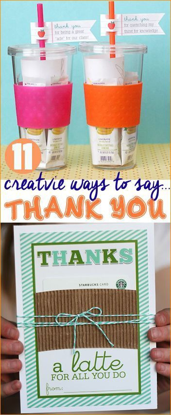 Great Thank You Gift Ideas  Creative Ways to Say Thank You Great Teacher Appreciation