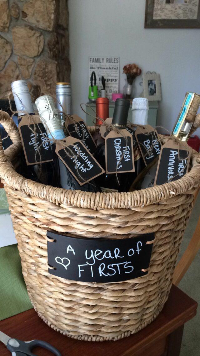 Great Wedding Gift Ideas  95 best images about Diy wedding wine basket ideas on