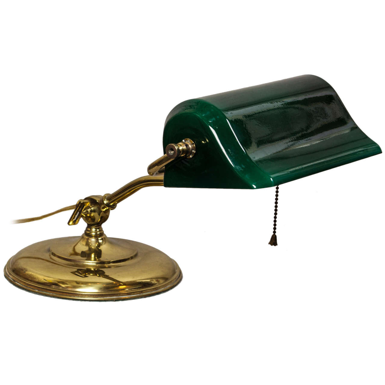 Best ideas about Green Desk Lamp . Save or Pin Banker s Desk Lamp with Cased Green Glass Shade at 1stdibs Now.