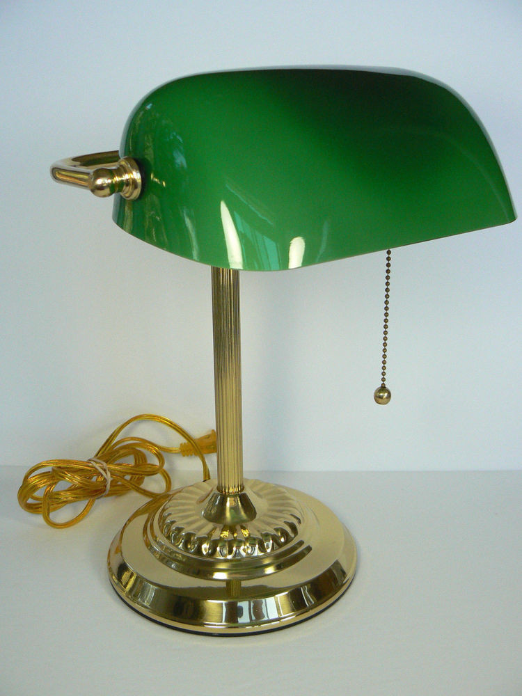 Best ideas about Green Desk Lamp . Save or Pin Student Desk Lamp Emerald Green Glass Shade Brass Bankers Now.