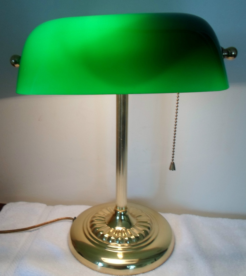 Best ideas about Green Desk Lamp . Save or Pin Vintage Brass Banker s Student Piano Desk Library Lamp Now.