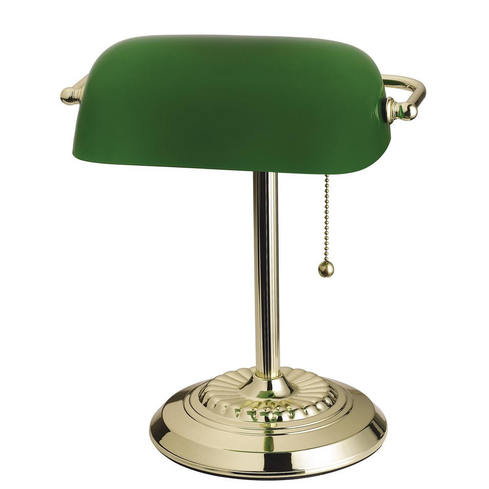 Best ideas about Green Desk Lamp . Save or Pin Tensor 14 5 in Brass Banker s Desk Lamp with Green Shade Now.