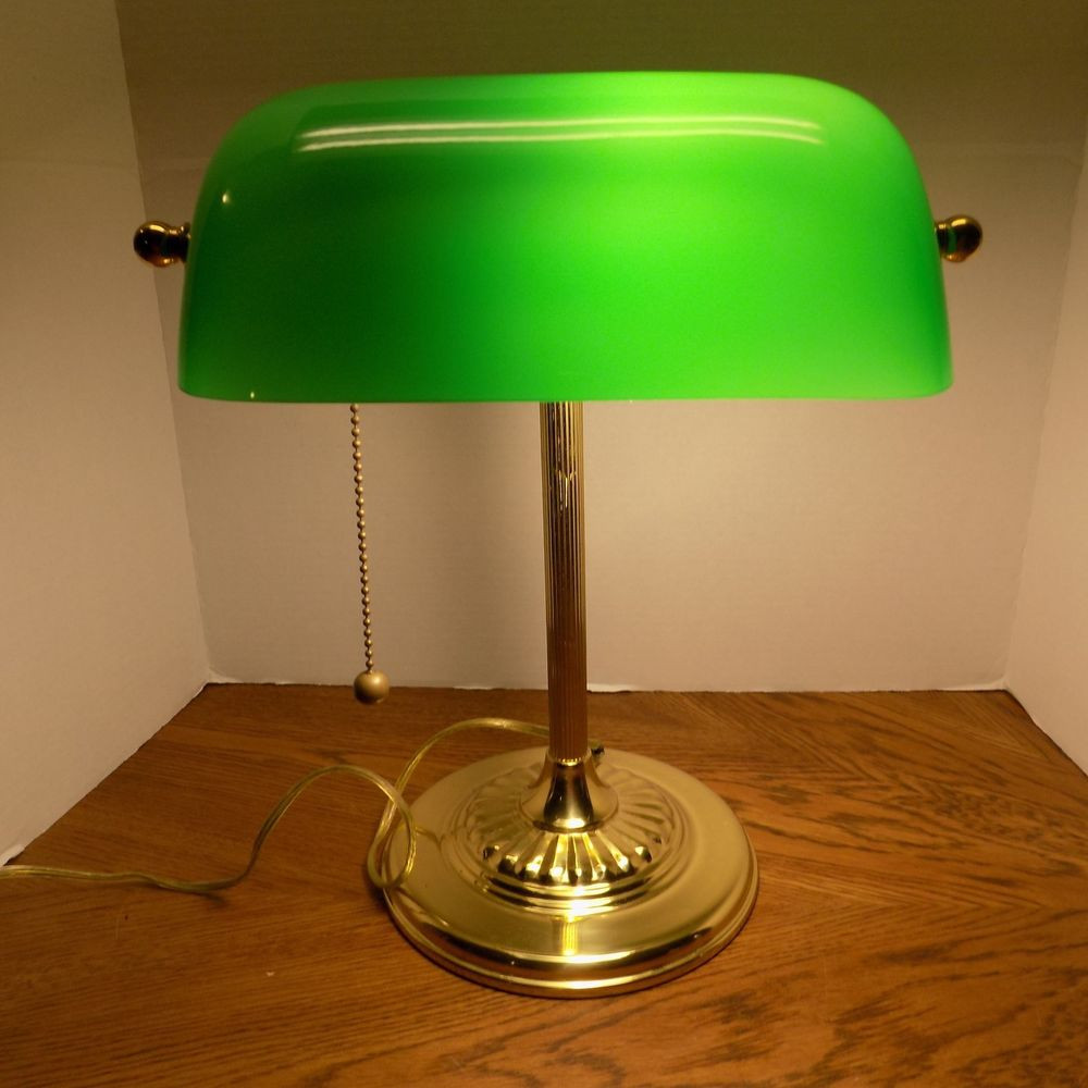 Best ideas about Green Desk Lamp . Save or Pin Classic Bankers fice Desk Lamp Piano Light Brass Green Now.