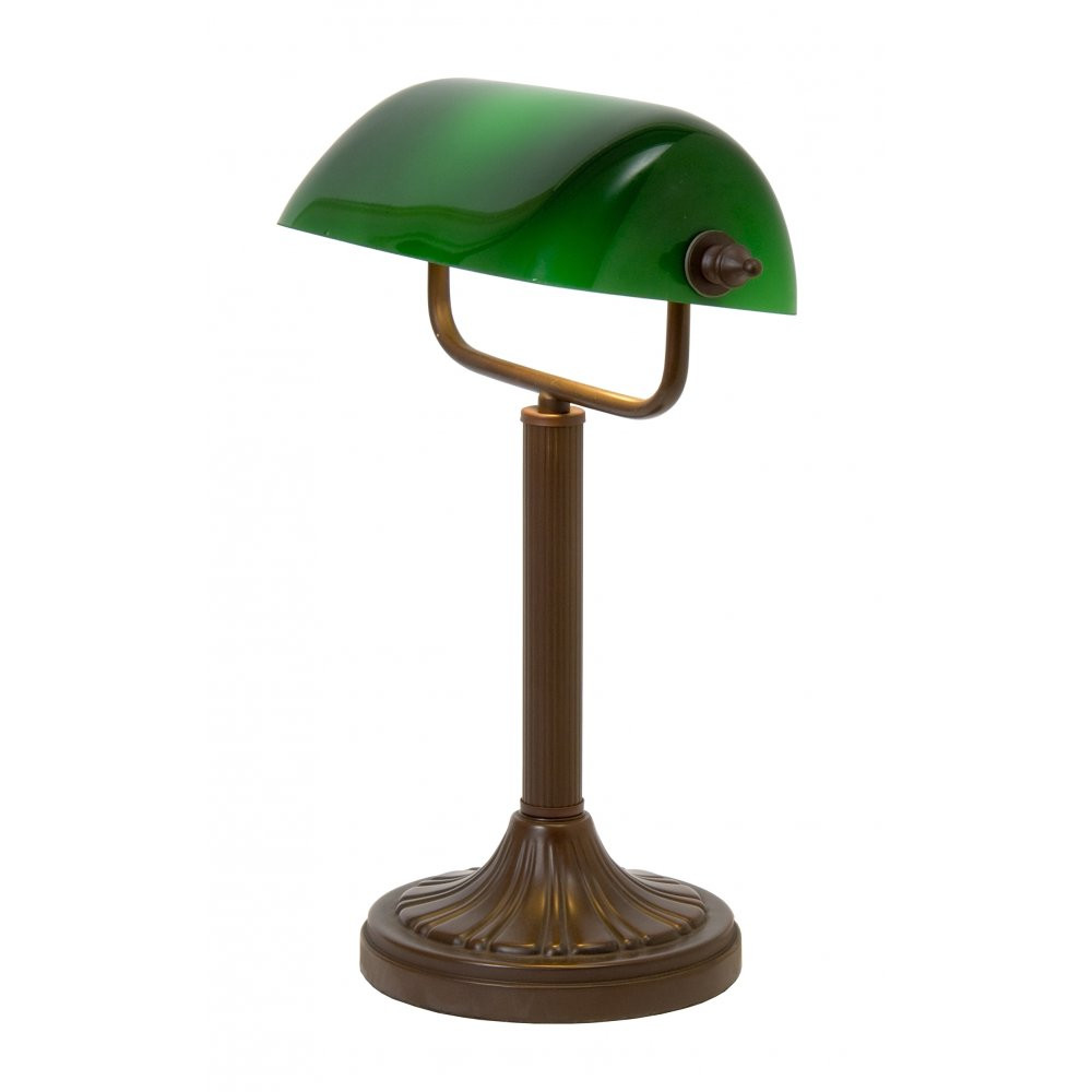 Best ideas about Green Desk Lamp . Save or Pin Traditional Aged Brass Bankers Lamp Desk Light with Green Now.