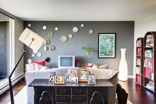Best ideas about Grey Accent Wall Living Room . Save or Pin Stylish Home Design Ideas Red Accent Wall Living Room Now.