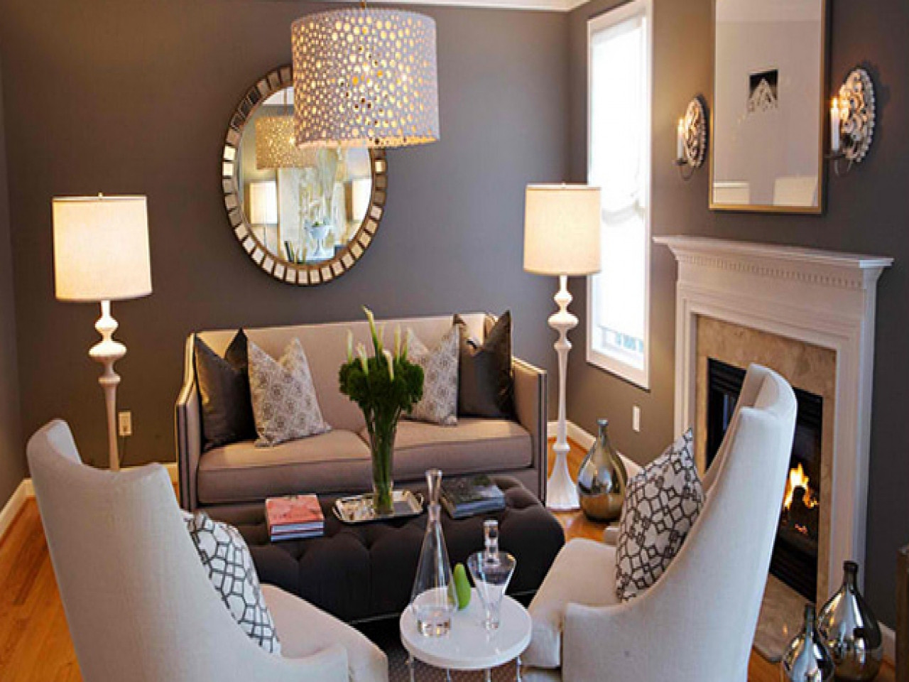 Best ideas about Grey Accent Wall Living Room . Save or Pin Small sitting rooms dark gray accent wall dark grey Now.