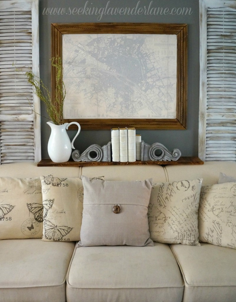 Best ideas about Grey Accent Wall Living Room . Save or Pin Dark Gray Accent Wall Seeking Lavendar Lane Now.