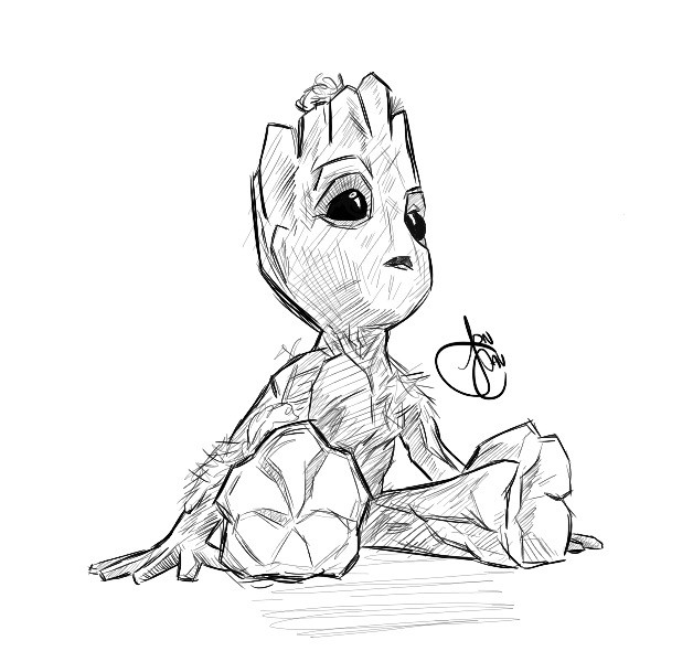 Groot Coloring Pages  Baby Groot by joncav182 on DeviantArt