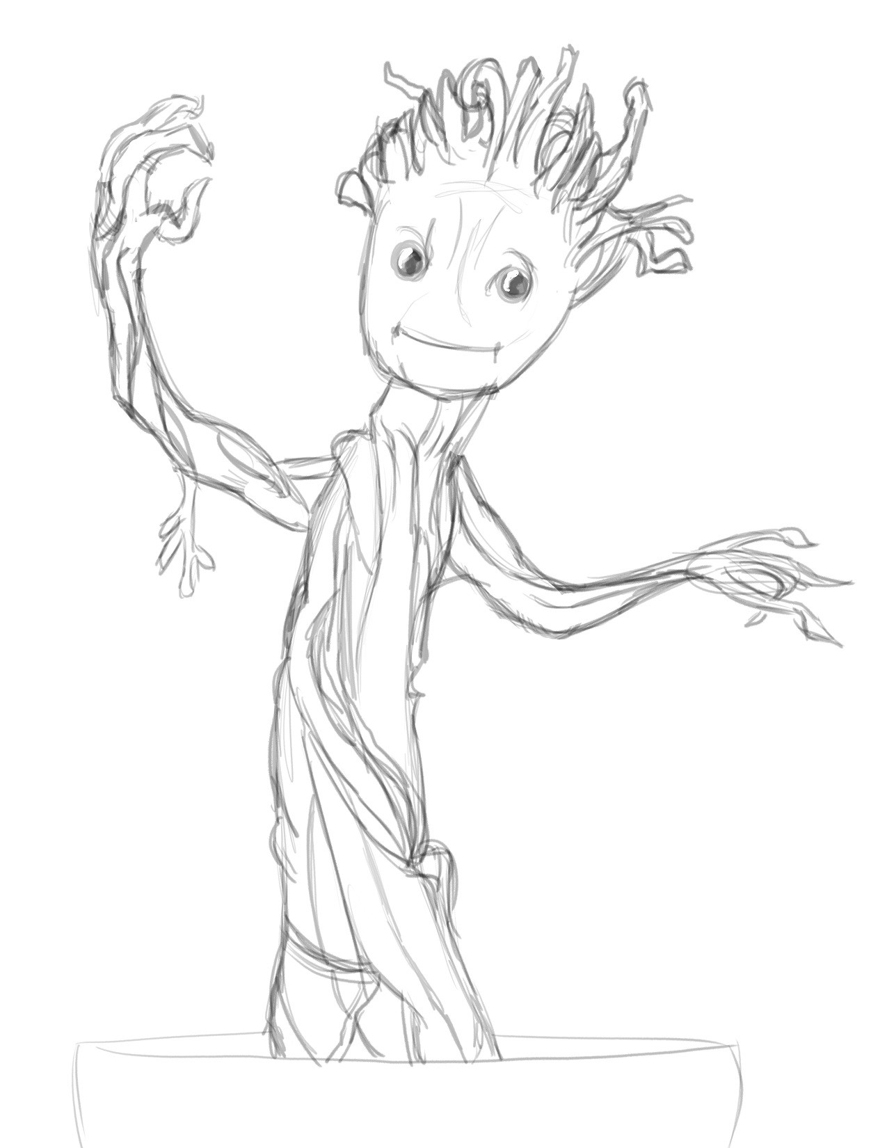 Groot Coloring Pages  Baby Groot Coloring Lesson