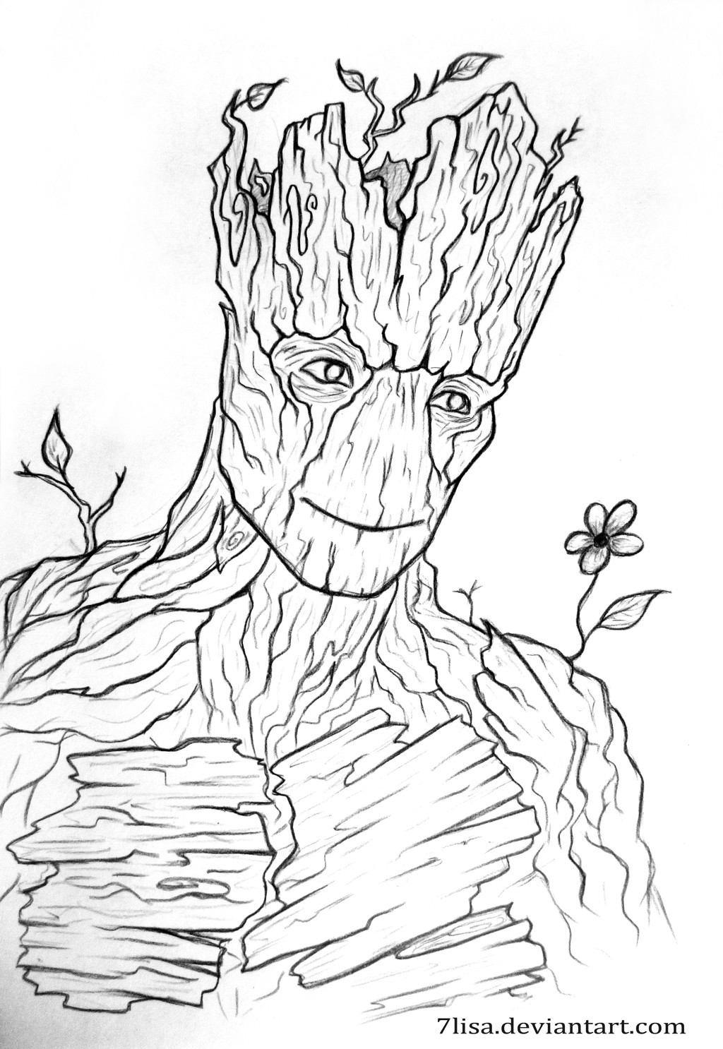 Groot Coloring Pages  I am Groot by 7Lisa on DeviantArt