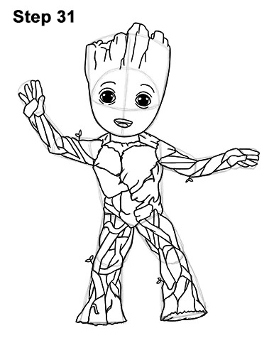 Groot Coloring Pages  Marvel ics