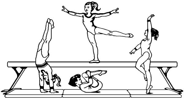 Gymnastics Coloring Pages For Girls  Gymnastics coloring pages 37 pictures quotes and clipart