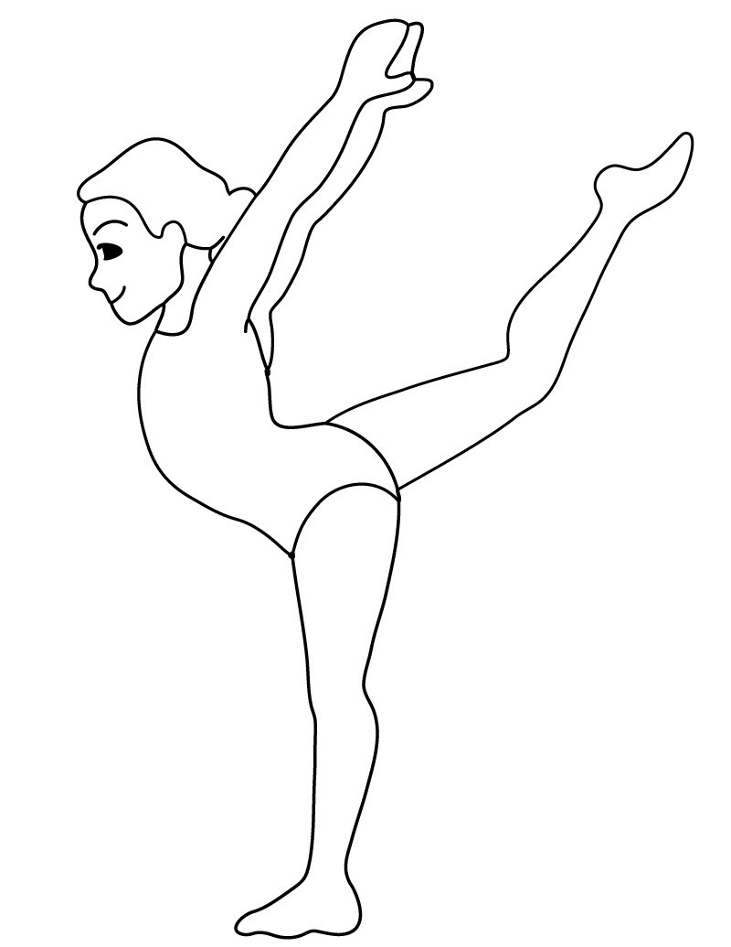 Gymnastics Coloring Pages For Girls  Free Printable Gymnastics Coloring Pages For Kids