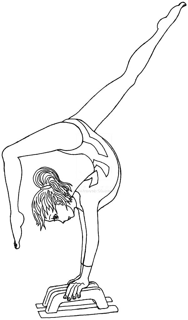 Gymnastics Coloring Pages For Girls  Gymnastics Coloring Pages Best Coloring Pages For Kids