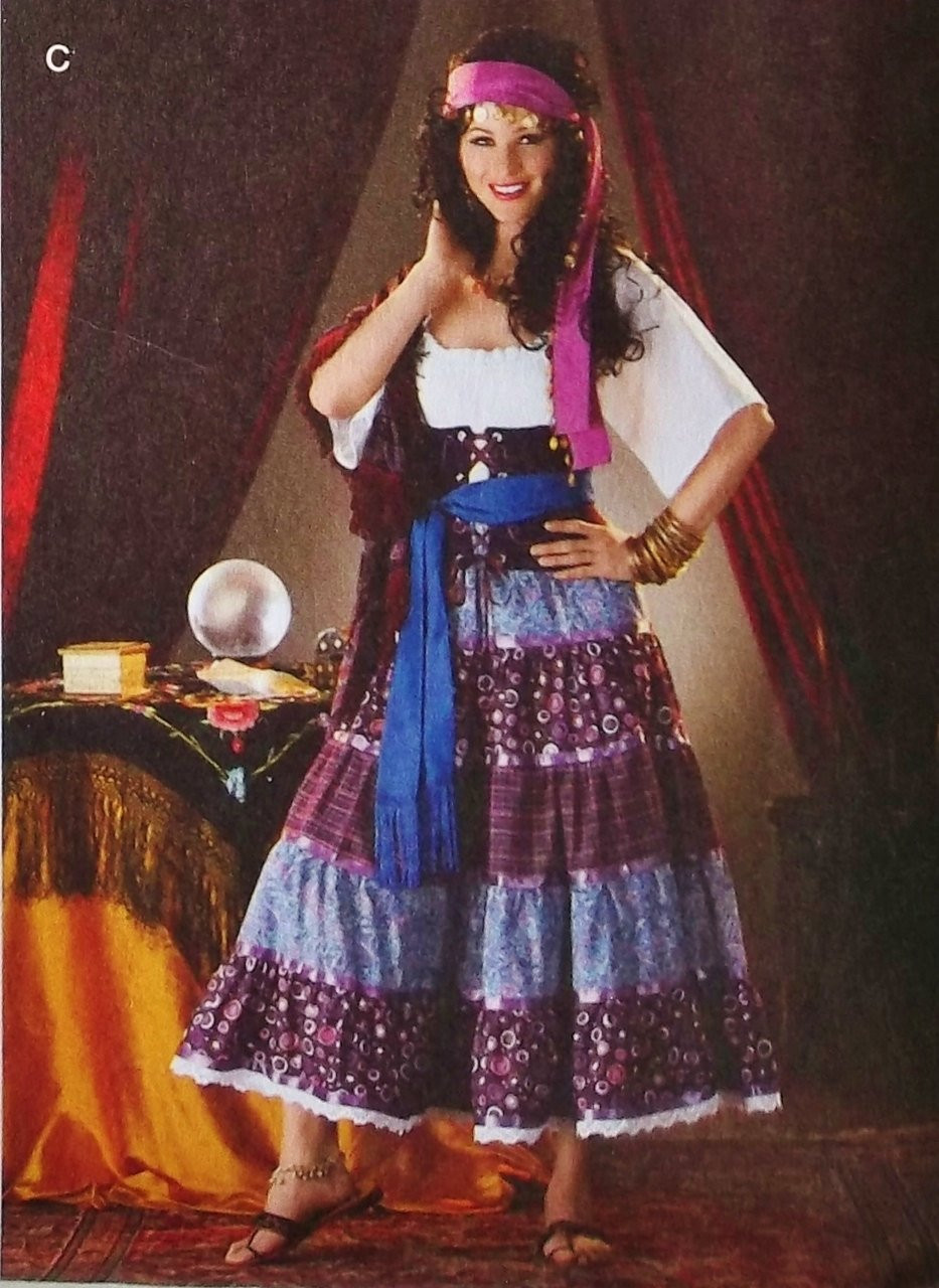 Gypsy Costumes DIY  Gypsy Seer Costume Pattern Gypsy Fortune Teller Costume