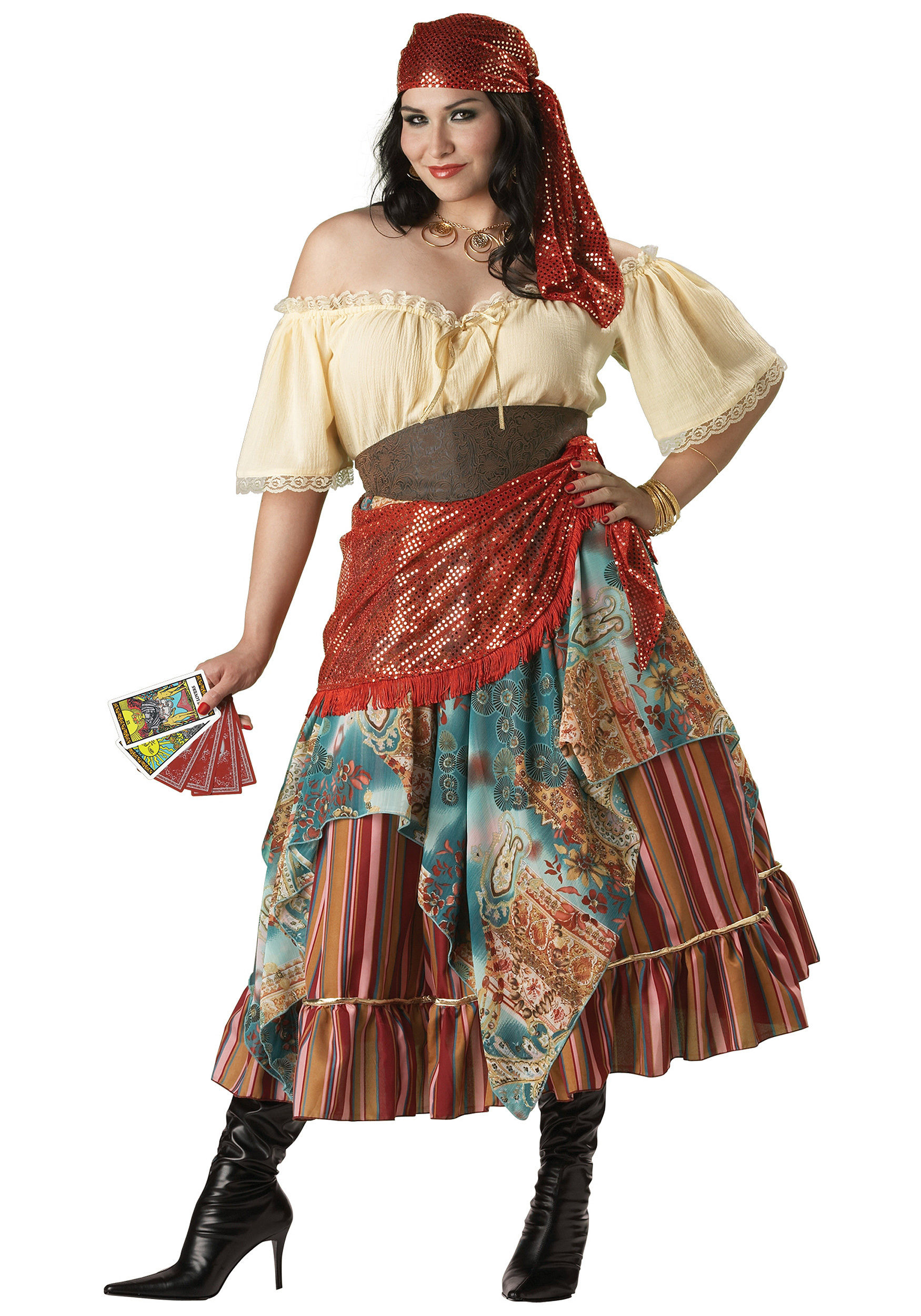 Gypsy Costumes DIY  Fortune Teller Plus Size Gypsy Costume Mr Costumes