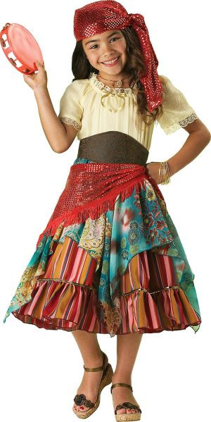 Gypsy Costumes DIY  Girls Fortune Teller Costume Elite Party City