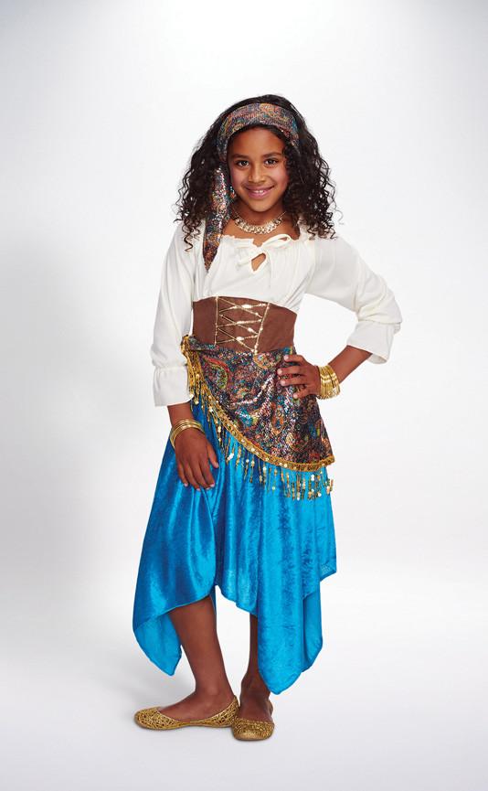 Gypsy Costumes DIY  Fortune Teller Girl Kids Halloween Costumes